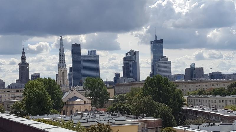 Panorama Warszawy wykonana podczas opini ornitologicznej.